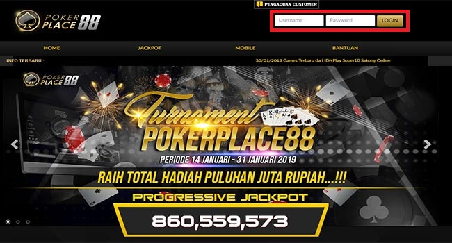 login-poker-place88